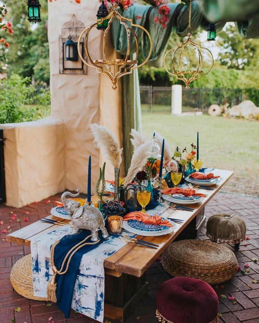 Moroccan inspired south Florida wedding